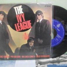 Discos de vinilo: THE IVY LEAGUE VUELTAS Y VUELTAS + 3 SINGLE SPAIN 1965 PDELUXE . Lote 158673646