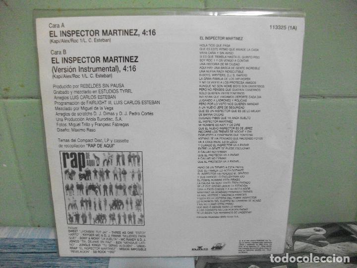 Discos de vinilo: VARIOS - RAP DE AQUÍ - 9 SINGLES RAP DE AQUÍ SINGLES SPAIN 1990 PDELUXE - Foto 18 - 158675850