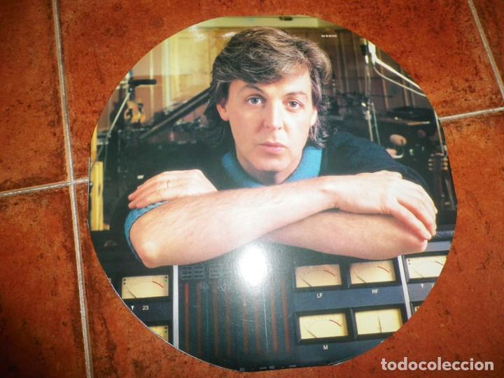Discos de vinilo: PAUL McCARTNEY Press MAXI SINGLE VINILO 1986 UK PORTADA REDONDA THE BEATLES 3 TEMAS 10 PULGADAS RARO - Foto 5 - 158679526