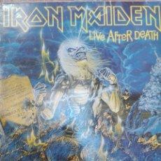 Discos de vinilo: IRON MAIDEN-LIVE AFTER DEATH-ORIGINAL ESPAÑOL-DOBLE LP. Lote 158694066