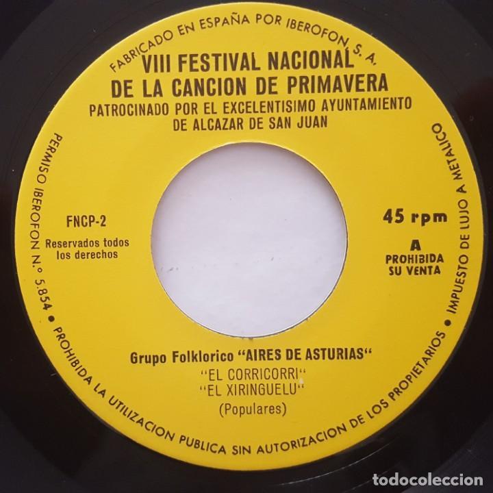 Discos de vinilo: EP / EXITOS DEL VIII FESTIVAL NACIONAL DE LA CANCIÓN DE PRIMAVERA / ALCAZAR DE SAN JUAN 1972 - Foto 3 - 158711646