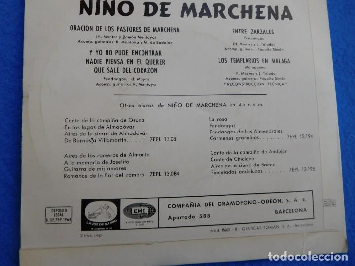 VINILO DE 1964, CON 4 MAGNIFICAS CREACIONES DE PEPE MARCHENA, EN BUEN ESTADO DE CONSERVACIÓN (Música - Discos - Singles Vinilo - Flamenco, Canción española y Cuplé)