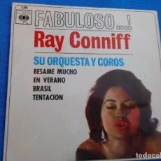 Discos de vinilo: RAY CONNIFF -BESAME MUCHO + EN VERANO + BRASIL + TENTACIÓN EP VINILO 1962 SPAIN. Lote 158760270