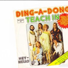 Discos de vinilo: TEACH IN DING -A - DONG GERMAN VERSION . Lote 158777314