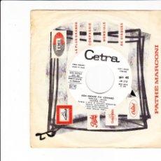 Discos de vinil: 45 GIRI CLAUDIO VILLA NON ANDARE PIU' LONTANO EUROFESTIVAL VIENNA 1967. Lote 158793038