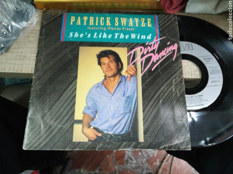 PATRICK SWAYZE SINGLE SHE'S LIKE THE WIND FRANCIA 1987 (Música - Discos - Singles Vinilo - Bandas Sonoras y Actores)