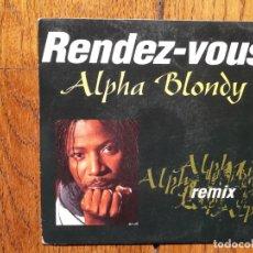 Discos de vinilo: ALPHA BLONDY - RENDEZ-VOUS (SOFT REMIX) + RENDEZ-VOUS (LP VERSIÓN). Lote 158800242