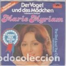 Discos de vinilo: 45 GIRI MARIE MYRIAM DER VOGEL UND DAS MADCHEN GRAND PRIX SIEGER 77 FRANCE . Lote 158812642