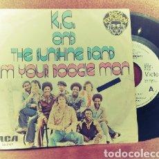 Discos de vinilo: K.C. AND THE SUNSHINE I'M YOUR BOOGIE MAN SINGLE 1977 RCA XB-2167. Lote 158818086