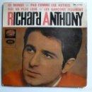Discos de vinilo: SINGLE DE -RICHARD ANTHONY -.. Lote 158825002