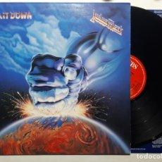 Discos de vinilo: DISCO LP VINILO JUDAS PRIEST – RAM IT DOWN PRIMERA EDICION INGLESA DE 1988. Lote 158838926
