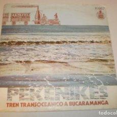 Discos de vinilo: SINGLE LOS PEKENIKES. TREN TRANSOCEÁNICO A BUCARAMANGA. ALADINO. HISPAVOX 1970 SPAIN PROBADO Y BIEN. Lote 158855018