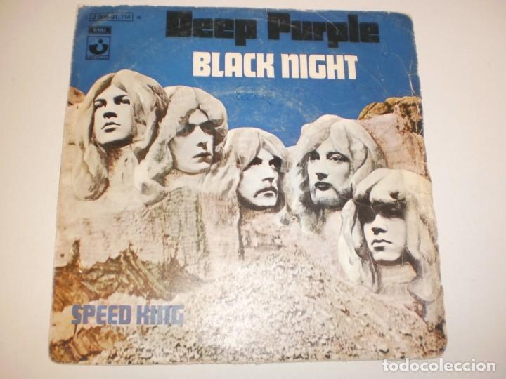 SINGLE DEEP PURPLE. BLACK NIGHT. SPEED KING. ODEÓN 1970 SPAIN (PROBADO Y BIEN) (Música - Discos - Singles Vinilo - Pop - Rock - Extranjero de los 70)