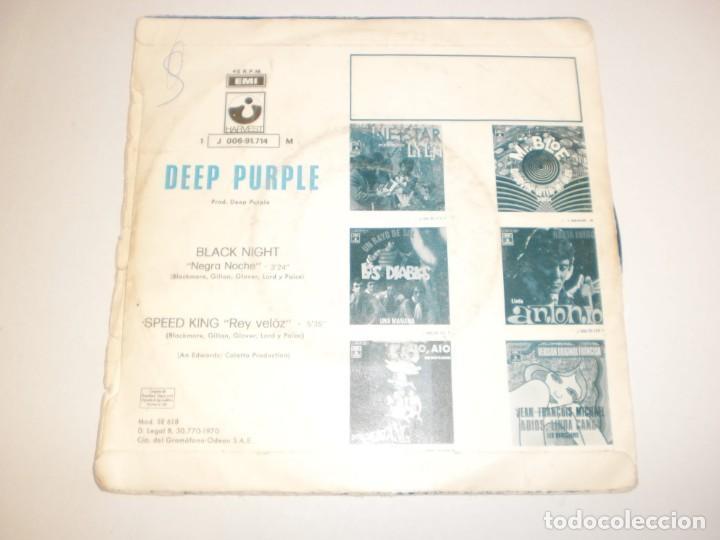 Discos de vinilo: single deep purple. black night. speed king. odeón 1970 spain (probado y bien) - Foto 2 - 184791430