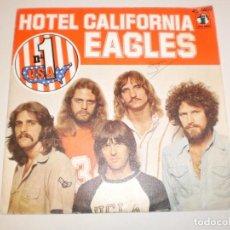 Disques de vinyle: SINGLE EAGLES. HOTEL CALIFORNIA. PRETTY MAIDS ALL IN A ROW ASYLUM 1977 SPAIN (PROBADO Y BIEN). Lote 158857066