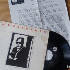 Discos de vinilo: SINGLE (VINILO)-PROMOCION- DE BUSTAMANTE AÑOS 80 + HOJA PROMOCION. Lote 158859898
