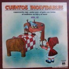 Discos de vinilo: LP - CUENTOS INOLVIDABLES VOL 12- VER DETALLES. Lote 158892202