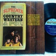 Discos de vinilo: THE SUPREMES - '' SING COUNTRY WESTERN & POP '' LP 1ST PRESSING MONO USA 1965. Lote 158895746