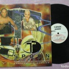 Discos de vinilo: SPOON ROCKSTAR MAXI SINGLE VINYL MADE IN BELGIUM 1996. Lote 158912274