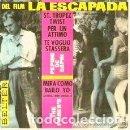 Discos de vinilo: LA ESCAPADA (BSO EP 1963) PEPINO DI CAPRI (SANT TROPEZ TWIST) - THE FINDER'S - FILM IL SORPASSO 1962. Lote 158915430