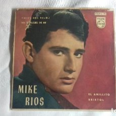 Discos de vinilo: MIKE RIOS - MIGUEL RIO TWIST DEL RELOJ ( TWIST AROUND THE CLOCK )- BRISTOL - EP SPAIN 1962 SINGLE 45. Lote 158931178