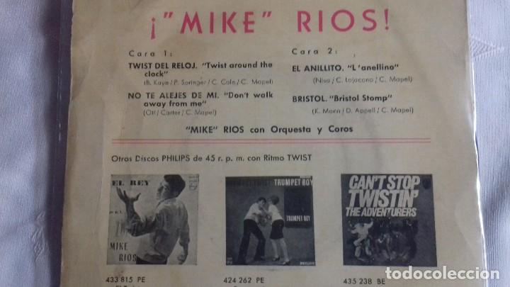 Discos de vinilo: MIKE RIOS - miguel rio TWIST DEL RELOJ ( TWIST AROUND THE CLOCK )- BRISTOL - EP SPAIN 1962 single 45 - Foto 7 - 158931178