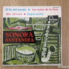 Discos de vinilo: RARE SPAIN EP A BAILAR CON LA SONORA SANTANERA BOLERO BOOGALOO LATIN EL FIN DEL MUNDO. Lote 158940422