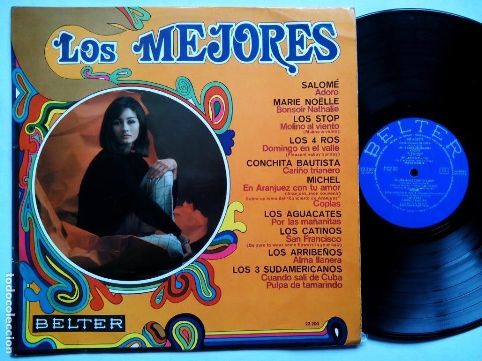 LOS MEJORES. LP BELTER 22200. ESPAÑA 1968. SALOMÉ. LOS STOP. LOS 4 ROS. MICHEL. LOS 3 SUDAMERICANOS. (Música - Discos - LP Vinilo - Grupos Españoles 50 y 60)
