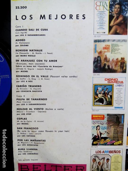 Discos de vinilo: LOS MEJORES. LP BELTER 22200. ESPAÑA 1968. SALOMÉ. LOS STOP. LOS 4 ROS. MICHEL. LOS 3 SUDAMERICANOS. - Foto 3 - 158945002