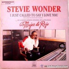 Discos de vinilo: STEVIE WONDER - PART-TIME LOVER = AMANTE A MEDIAS - MAXI-SINGLE SPAIN 1985. Lote 158949830