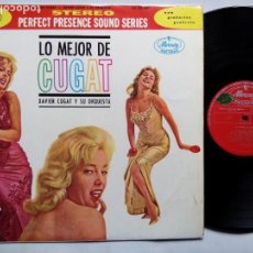 Discos de vinilo: XAVIER CUGAT Y SU ORQUESTA. LO MEJOR DE CUGAT. LP MERCURY 135352 MDY. ESPAÑA.. Lote 158951602