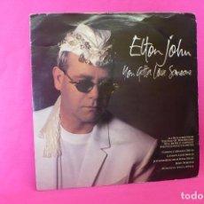 Discos de vinilo: ELTON JOHN -- NON GOTTA LOVE SOMEONE / MEDICINE MAN, PHONOGRAM, 1990.. Lote 159003230