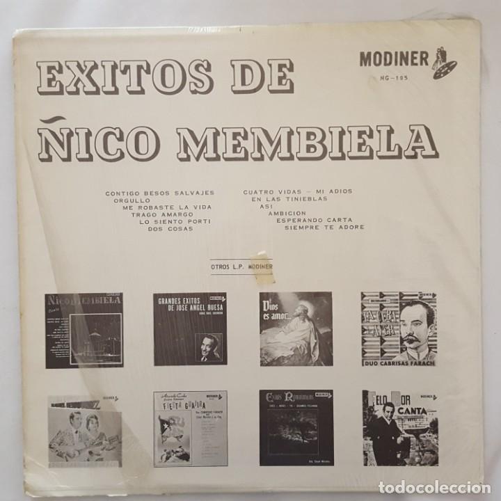 Discos de vinilo: LP / EXITOS DE ÑICO MENBIELA / CONTIGO BESOS SALVAJES / USA - Foto 2 - 159012402