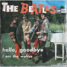 Discos de vinilo: BEATLES, THE: HELLO, GOODBYE / I AM THE WALRUS. Lote 159013034