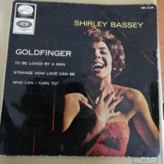 Discos de vinilo: SHIRLEY BASSEY - GOLDFINGER + 3. Lote 159018344