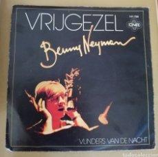 Discos de vinilo: BENNY NEYMAN - VRIJGEZEL. Lote 159025082
