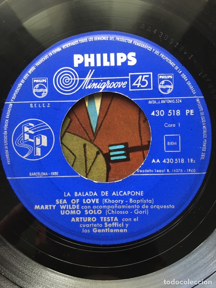 Discos de vinilo: MARTY WILDE/ARTURO TESTA CUARTETO SOFFICI/RICHARD MALTBY-LA BALADA DE ALCAPONE-1960-RARO - Foto 6 - 159061642