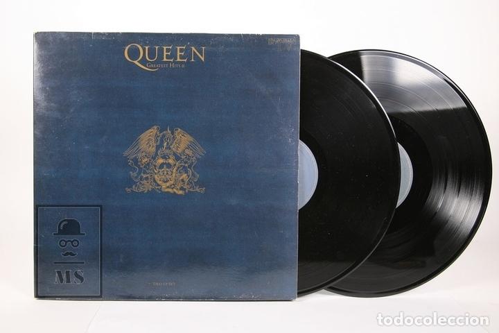 DISCO DOBLE LP DE VINILO - QUEEN GREATEST HITS - EMI - AÑO 1991 - CON ENCARTES (Música - Discos - LP Vinilo - Pop - Rock Extranjero de los 90 a la actualidad)