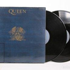 Discos de vinilo: DISCO DOBLE LP DE VINILO - QUEEN GREATEST HITS - EMI - AÑO 1991 - CON ENCARTES. Lote 164661793