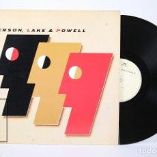 Discos de vinilo: DISCO LP DE VINILO - EMERSON, LAKE & POWELL - POLYDOR - AÑO 1986 - MADE IN CANADA - CON ENCARTE. Lote 159066518