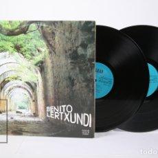Discos de vinilo: DISCO DOBLE LP DE VINILO - BENITO LERTXUNDI / ZUBEROA... - ELKAR 1977 - PORTADA ABIERTA Y LETRAS. Lote 159067364