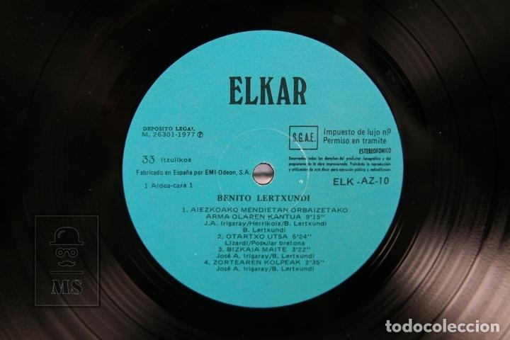 Discos de vinilo: Disco Doble LP De Vinilo - Benito Lertxundi / Zuberoa... - Elkar 1977 - Portada Abierta y Letras - Foto 2 - 159067364