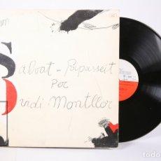 Discos de vinilo: DISCO LP DE VINILO - OVIDI MONTLLOR / SALVAT PAPASSEIT - EDIGSA - AÑO 1975 - LIBRETO Y DOBLE PORTADA. Lote 159067406