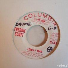 Discos de vinilo: FREDDIE SCOTT LONELY MAN / I'LL TRY AGAIN SOUL 1964 ORIGINAL USA PROMO VG++. Lote 159068682