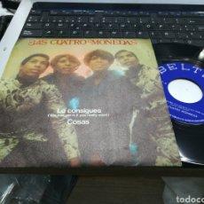 Discos de vinilo: LAS CUATRO MONEDAS SINGLE LO CONSIGUES 1970. Lote 159094094