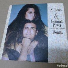Disques de vinyle: AL BANO Y ROMINA POWER (SN) DONNA AÑO 1988 – EDICION PROMOCIONAL. Lote 159117150