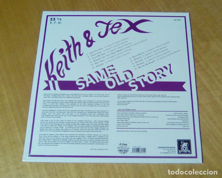 Discos de vinilo: KEITH & TEX - Same Old Story (LP 2017, Liquidator Music LQ 097) PRECINTADO - Foto 2 - 159121142