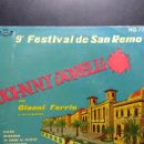 Discos de vinilo: SG JOHNNY DORELLI : PIOVE ( CANCION DE DOMENICO MODUGNO ) ( 9º FESTIVAL DE SAN REMO ). Lote 159125266