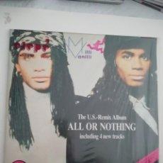 Discos de vinilo: MILLI VANILLI ALL OR NOTHING. Lote 159144758