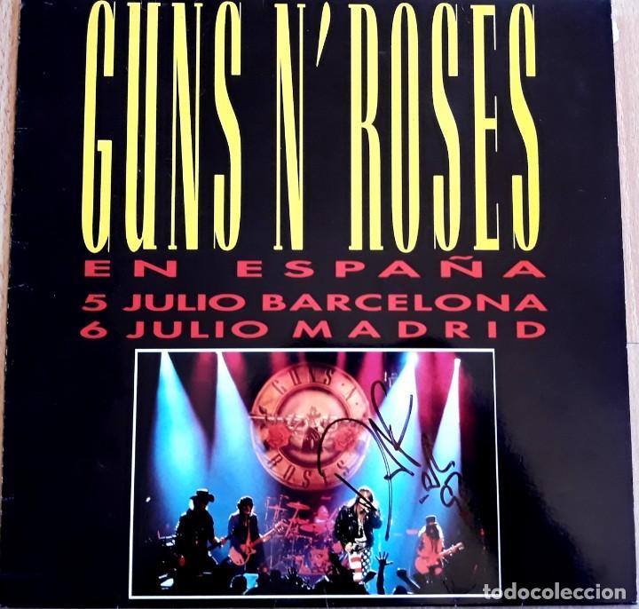 MAXI SINGLE GUNS N ROSES FIRMADO POR DUFF (Música - Discos de Vinilo - Maxi Singles - Pop - Rock Extranjero de los 90 a la actualidad)